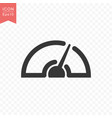 speedometer icon simple flat style vector image vector image