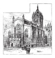 st giles cathedral edinburgh vintage vector image vector image