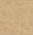 texture brown craft crumpled paper background vector image