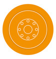 tire car isolated icon vector image vector image