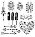 tribal aztec stencil elements vector image vector image