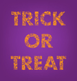 trick or treat halloween creative typography vector image