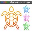 turtle symbol icon design vector image
