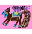 ukrainian tribal ethnic painting unusual horse vector image vector image