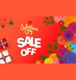 valentinea day sale off banner vector image