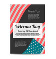 veterans day banner vector image vector image