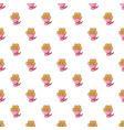 wedding flower bucket pattern seamless vector image vector image