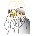 Wedding Ring Couple vector image