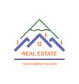 creative logo real estate icon vector image