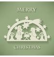 Nativity scene Paper cut Christmas background vector image