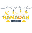 Ramadan Kareem word vector image