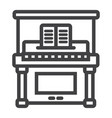 piano line icon music and instrument vector image