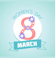 8 march womens day vector image vector image