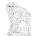 adult coloring bookpage a cute monkey on the vector image