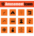 amusement park icon set vector image vector image