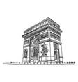 arc de triomphe or triumphal arch star vector image vector image