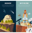 Astronomy Vertical Banners vector image vector image