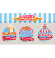 Bakery design template vector image