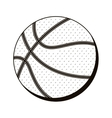 basketball ball in monochrome dots vector image vector image