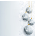 Beautiful New Year and Christmas card with gray vector image vector image