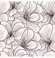 Beige and brown geranium flowers vector image vector image