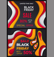 black friday special discount percent offer vector image vector image