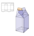 Box Die Line vector image vector image