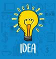 bulb light idea creativity business vector image