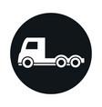 car trailer head truck model transport vehicle vector image vector image