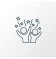 celebration icon line symbol premium quality vector image vector image