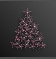 christmas background with christmas tree of vector image vector image