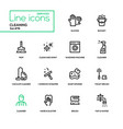 cleaning - line design icons set vector image vector image