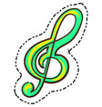 clef treble music icon isolated on white vector image