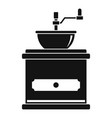 coffee mill icon simple style vector image vector image