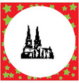 cologne cathedral germany isolated vector image vector image