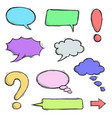 colored speech bubbles and punctuation marks hand vector image