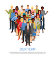 Crowd Professional People Team Flat Poster vector image vector image