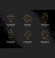crystals logo templates set vector image