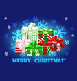 cute merry christmas different gifts creative vector image