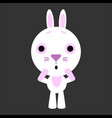 cute rabbit rabbit gets scared gray vector image vector image