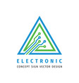 electronic technology - logo template vector image