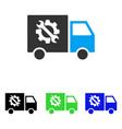 equipment truck flat icon vector image vector image