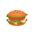 flat icon of appetizing sandwich tasty vector image