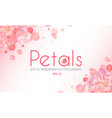 flying petals abstract background with blossom vector image vector image