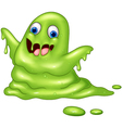 Green slimy monster vector image vector image