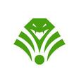 green snake logo vector image