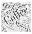 History of Coffee Makers Word Cloud Concept vector image vector image