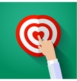 Icon of human heart with hand vector image