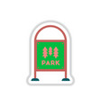 in paper sticker style garden vector image vector image