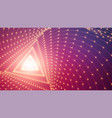 infinite triangular tunnel of arrows vector image